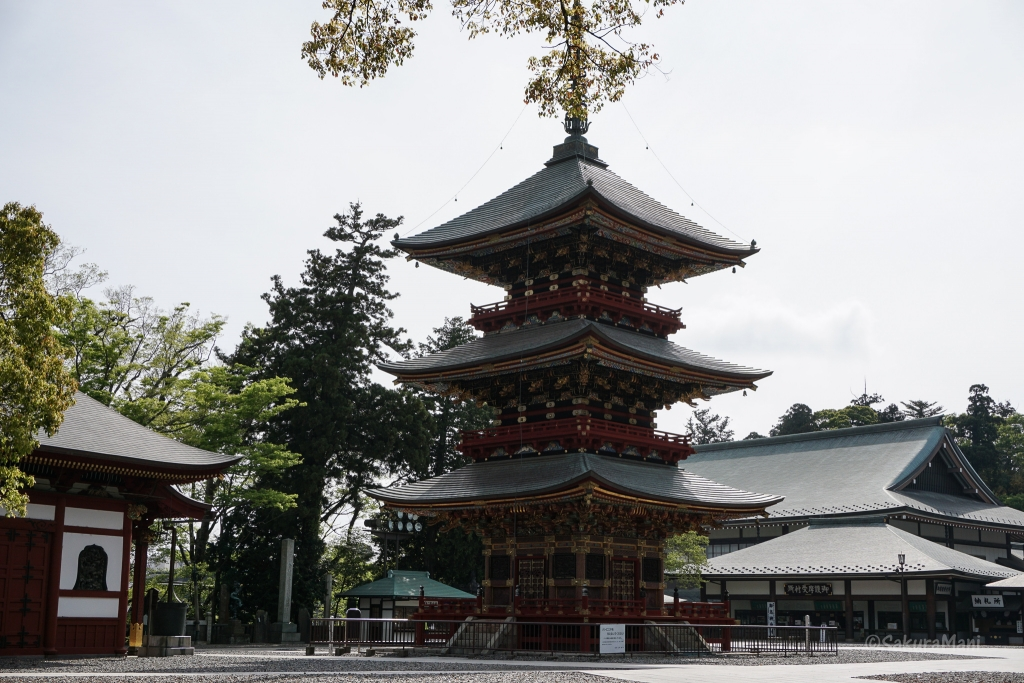 Three-storied pagoda at Shinsho-ji Temple in Narita
