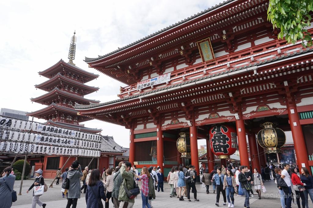 Sensoji temple in Assakusa