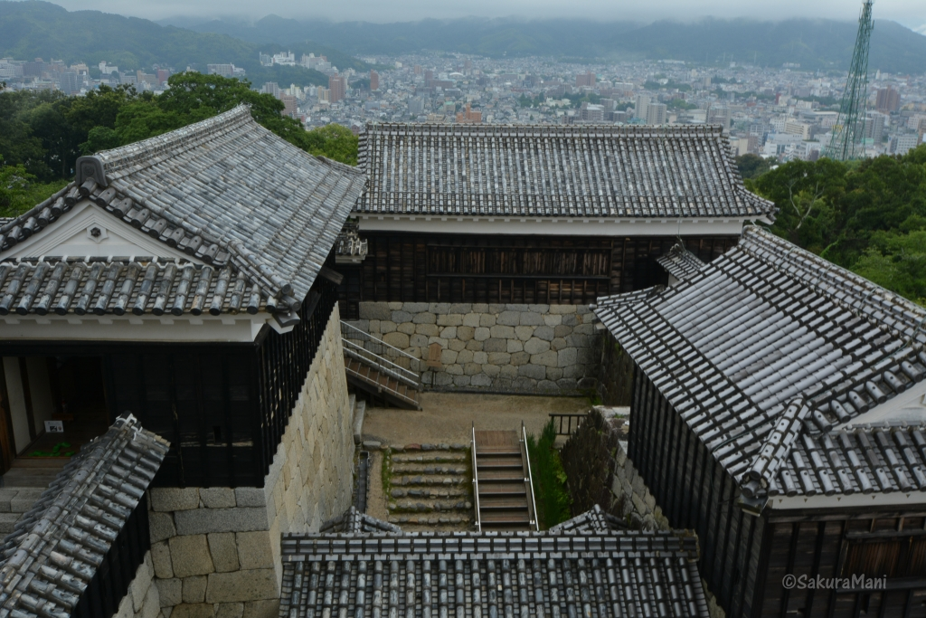 View from Matsuyama castle tower